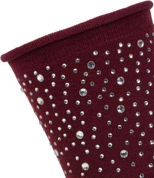 styleBREAKER Damen Socken mit Strass, Rollbündchen, Größe 35-41 EU / 5-9 US / 4-7 UK 08030003 – Bild 4