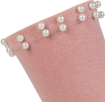 styleBREAKER Damen Socken mit Perlen, Größe 35-41 EU / 5-9 US / 4-7 UK, Söckchen 08030004 – Bild 4
