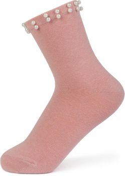styleBREAKER Damen Socken mit Perlen, Größe 35-41 EU / 5-9 US / 4-7 UK, Söckchen 08030004 – Bild 3
