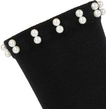 styleBREAKER Damen Socken mit Perlen, Größe 35-41 EU / 5-9 US / 4-7 UK 08030004 – Bild 6