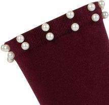 styleBREAKER Damen Socken mit Perlen, Größe 35-41 EU / 5-9 US / 4-7 UK, Söckchen 08030004 – Bild 8