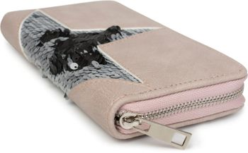 styleBREAKER Damen Portemonnaie mit Pailletten Stern, Reißverschluss, Geldbörse 02040114 – Bild 11