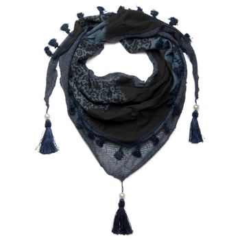 styleBREAKER printed triangle scarf with tassels and beads, scarf, shawl 01020016 – Bild 7