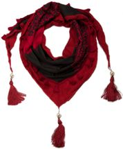 styleBREAKER printed triangle scarf with tassels and beads, scarf, shawl 01020016 – Bild 6