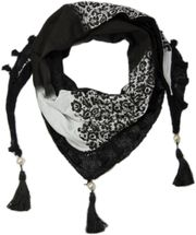 styleBREAKER printed triangle scarf with tassels and beads, scarf, shawl 01020016 – Bild 1