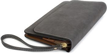 styleBREAKER Damen Clutch mit Überschlag und Trageschlaufe, Abendtasche, Portemonnaie 02012259 – Bild 10