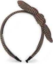 styleBREAKER Damen Retro Haarreif mit Glencheck Karo Muster und Schleife, Haarband, Headband 04026019 – Bild 5