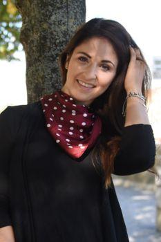 styleBREAKER Damen Dreieckstuch mit Polka Dots Punkte, Multifunktion Tuch, Halstuch, Kopftuch, Bandana 01016171 – Bild 13