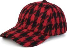 styleBREAKER 6-Panel Cap mit Pepita Hahnentritt Muster, Baseball Cap, Basecap, verstellbar, Unisex 04023059 – Bild 1