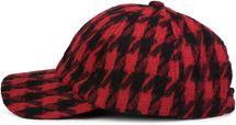 styleBREAKER 6-Panel Cap mit Pepita Hahnentritt Muster, Baseball Cap, Basecap, verstellbar, Unisex 04023059 – Bild 3