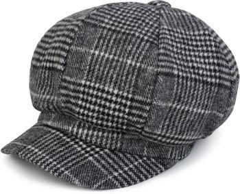 styleBREAKER Bakerboy Schirmmütze mit Glencheck Karo Muster, Ballonmütze, Newsboy Cap, Unisex 04023060 – Bild 6