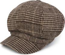 styleBREAKER Bakerboy Schirmmütze mit Glencheck Karo Muster, Ballonmütze, Newsboy Cap, Unisex 04023060 – Bild 1