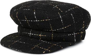 styleBREAKER Damen Bakerboy Schirmmütze mit Metallic Karo Muster, Ballonmütze, Newsboy Cap 04023061 – Bild 7