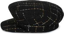 styleBREAKER Damen Bakerboy Schirmmütze mit Metallic Karo Muster, Ballonmütze, Newsboy Cap 04023061 – Bild 2