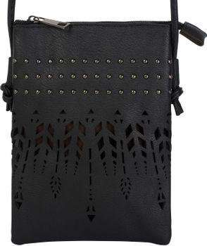 styleBREAKER Damen Mini Bag Umhängetasche Ethno Style und Nieten, Schultertasche, Handtasche, Tasche 02012260 – Bild 9
