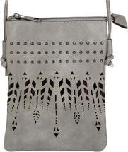 styleBREAKER Damen Mini Bag Umhängetasche Ethno Style und Nieten, Schultertasche, Handtasche, Tasche 02012260 – Bild 5
