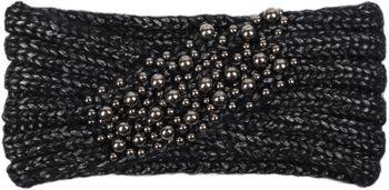 styleBREAKER Damen Strick Stirnband mit Twist, Knoten und Perlen, Haarband, Headband 04026022 – Bild 5