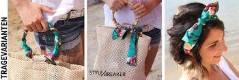 styleBREAKER Damen Multifunktionstuch schmal mit Streifen Muster, Haarband, Tuch, Halstuch, Schleife, Taschenband 04026024 – Bild 12