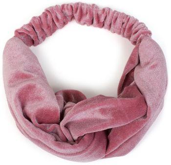 styleBREAKER Damen Haarband in Samt Optik mit Twist Knoten und Gummizug, Stirnband, Headband 04026027 – Bild 2