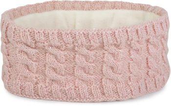 styleBREAKER Damen Strick Stirnband mit Zopfmuster und Pailletten, Fleece Futter, Haarband, Headband 04026028 – Bild 1