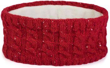 styleBREAKER Damen Strick Stirnband mit Zopfmuster und Pailletten, Fleece Futter, Haarband, Headband 04026028 – Bild 18