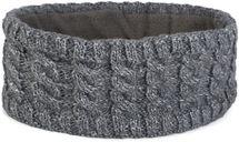 styleBREAKER Damen Strick Stirnband mit Zopfmuster und Pailletten, Fleece Futter, Haarband, Headband 04026028 – Bild 12