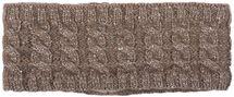 styleBREAKER Damen Strick Stirnband mit Zopfmuster und Pailletten, Fleece Futter, Haarband, Headband 04026028 – Bild 5