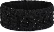 styleBREAKER Damen Strick Stirnband mit Zopfmuster und Pailletten, Fleece Futter, Haarband, Headband 04026028 – Bild 7