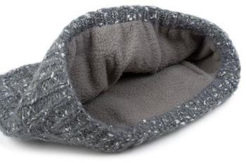 styleBREAKER Damen breites Multifunktion Strick Stirnband mit Zopfmuster, Thermo Fleece Futter, Tube Schal, Headband 04026030 – Bild 6