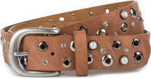 styleBREAKER Damen Gürtel mit Perlen, Strass und Nieten, Vintage Nietengürtel, kürzbar 03010090 – Bild 9