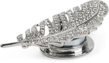 styleBREAKER Damen Magnet Schmuck Brosche Feder mit Strass, für Schals, Tücher oder Ponchos 05050068 – Bild 2