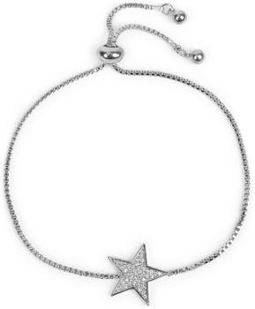 styleBREAKER Damen Armkette mit Stern und Strass Anhänger, Venezianerkette, Schmuck 05040148 – Bild 5
