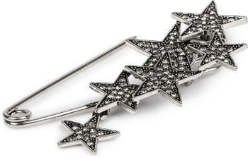 styleBREAKER Damen Schmucknadel mit Strass Sterne, für Ponchos, Tücher oder Schals, Sicherheitsnadel 05050072 – Bild 8
