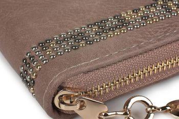 styleBREAKER Damen Geldbörse mit kleinen Nieten, Reißverschluss, Portemonnaie 02040116 – Bild 15