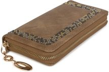 styleBREAKER Damen Geldbörse mit kleinen Nieten, Reißverschluss, Portemonnaie 02040116 – Bild 11