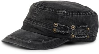 styleBREAKER Military Cap im washed, used Look, Vintage, verstellbar, Unisex 04023011 – Bild 1