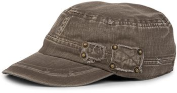 styleBREAKER Military Cap im washed, used Look, Vintage, verstellbar, Unisex 04023011 – Bild 3