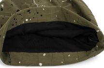 styleBREAKER Beanie Mütze mit Falten und All Over Farbkleckse, Slouch Longbeanie, Unisex 04024149 – Bild 3