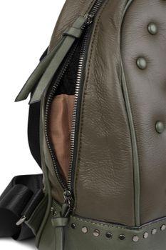 styleBREAKER Damen Rucksack Handtasche mit Nieten im Chesterfield-Stil, Reißverschluss, Tasche 02012266 – Bild 35