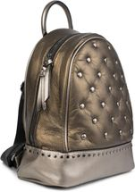 styleBREAKER Damen Rucksack Handtasche mit Nieten im Chesterfield-Stil, Reißverschluss, Tasche 02012266 – Bild 22