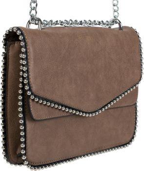 styleBREAKER Damen Umhängetasche mit Kugel-Nieten und Kette, Schultertasche, Handtasche, Tasche 02012267 – Bild 10