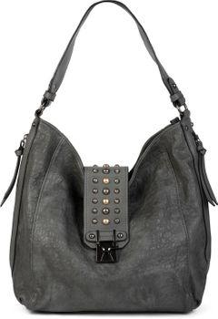 styleBREAKER Damen Hobo Bag Handtasche mit Nieten besetztem Verschluss, Shopper, Schultertasche, Tasche 02012270 – Bild 8