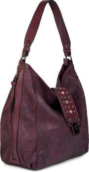styleBREAKER Damen Hobo Bag Handtasche mit Nieten besetztem Verschluss, Shopper, Schultertasche, Tasche 02012270 – Bild 16