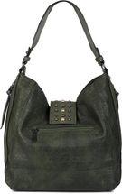 styleBREAKER Damen Hobo Bag Handtasche mit Nieten besetztem Verschluss, Shopper, Schultertasche, Tasche 02012270 – Bild 26