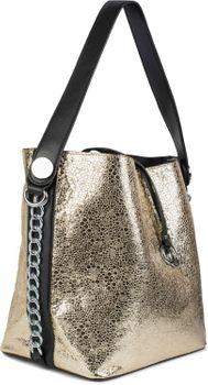 styleBREAKER Damen Schultertasche Set im Metallic Look mit Kette, Shopper, Handtasche, Tasche 02012273 – Bild 7