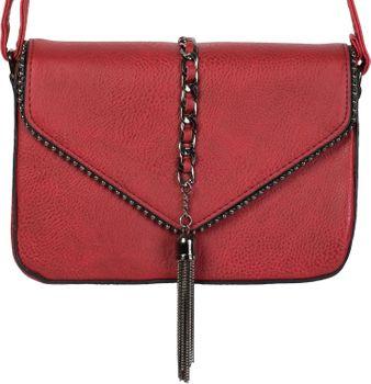 styleBREAKER Damen Umhängetasche im Envelope Design mit Kugel-Nieten, Kette und Quaste, Schultertasche, Handtasche, Tasche 02012274 – Bild 19