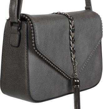 styleBREAKER Damen Umhängetasche im Envelope Design mit Kugel-Nieten, Kette und Quaste, Schultertasche, Handtasche, Tasche 02012274 – Bild 8