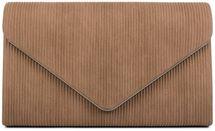 styleBREAKER Damen Envelope Clutch in Cord Optik mit Metall Zierleiste, Abendtasche, Tasche 02012275 – Bild 33