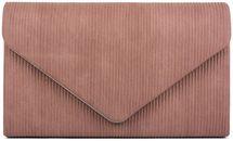 styleBREAKER Damen Envelope Clutch in Cord Optik mit Metall Zierleiste, Abendtasche, Tasche 02012275 – Bild 8