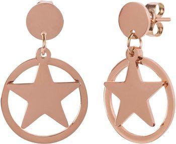 styleBREAKER Damen Edelstahl Ohrringe mit Stern Anhänger im Kreis, Ohrhänger, Ohrschmuck 05090005 – Bild 6